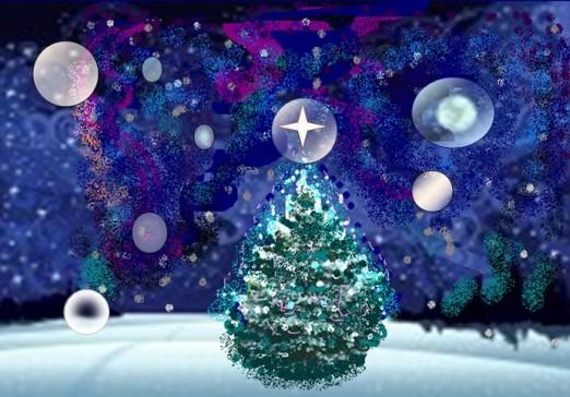 Christmas orbs painting
