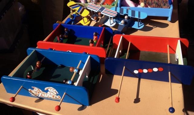 handmade wooden foosball toys
