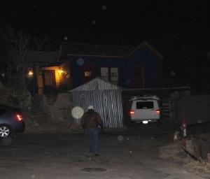 hexagonal orbs walk dog Cheyenne MacMasters