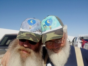 Roy Walz and Richard Blue Moon hats photo by Cheyenne MacMasters