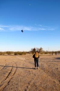 Blue Moon hot air balloon farewell photo by Cheyenne MacMasters