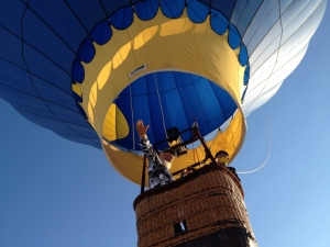Roy Walz Blue Moon hot air balloon farewell photo by Cheyenne MacMasters