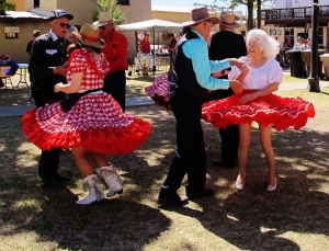 Tombstone square dancers
