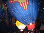 Orbs Flock to Hot Air Balloon Glow